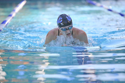 Corrie Presland-Byrne does the 100 meter breast stroke