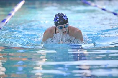 Corrie Presland-Byrne does the 100 meter breast stroke