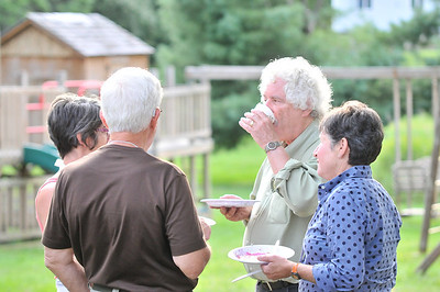 WAJC Members talk at the Barbecue
