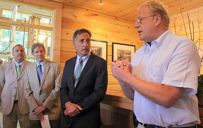 IMG_7400 silo ceo peter jillson speaks, at left is justin ciccarelli, chairman of windsor select board and bob flint of SRDC