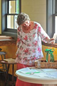 Anne Dean Admires her award