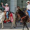 2013 Calgary Stampede Parade Marshall, Chris Hadfield & Bob Thompson President & Chairman Calgary Stampede