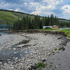 mountain aire lodge after the flood on the red deer river