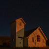 Dorothy Ab.is a ghost town....united church in the moon light