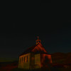 Dorothy Ab.is a ghost town....catholic church in the moon light