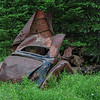 these old cars were left behind at an old saw mill site that was operated....way back in the mountains