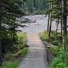 pathway that lead to the picnic tables on the upper side of Elbow Falls....