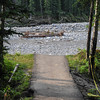 this path used to go to a picnic area along the river bank....you will see one of the picnic tables in the river in another picture