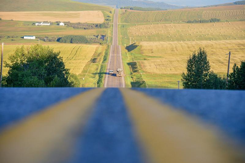 looking west on highway 549