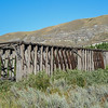 this old wooden bridge is located by the Atlas Coal Mine....the mine is closed down but you can do tours
