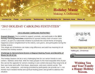 2013-12-08,  32nd Anual Holiday Caroling Festivities