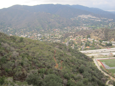 Building the southern segment of the Catalina Verdugo Trail