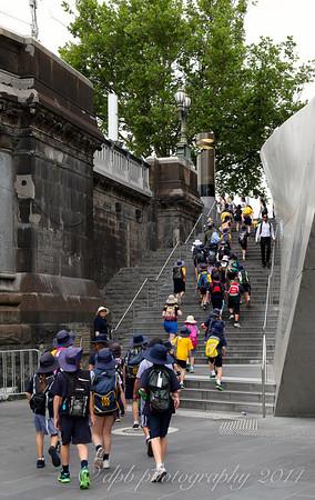 Children on Stairs