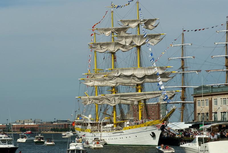 Tall Ships sail into Boston!