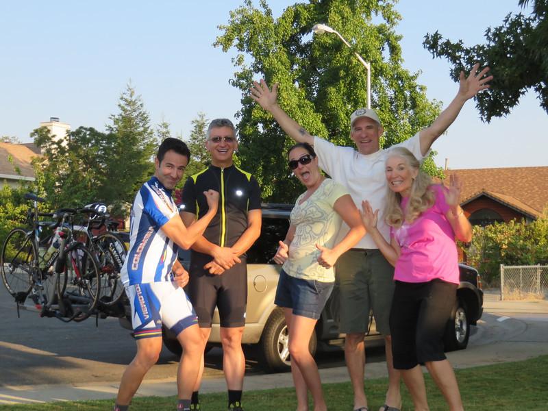 Julio, Roobik, Natasha, Hans and Mina. Ready to roll from Redding.