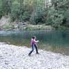Natasha skipping stones