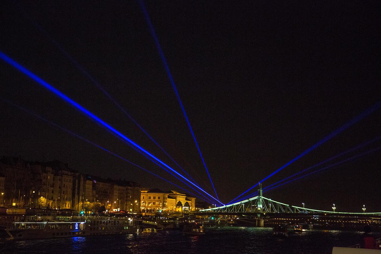 Budapest laser show