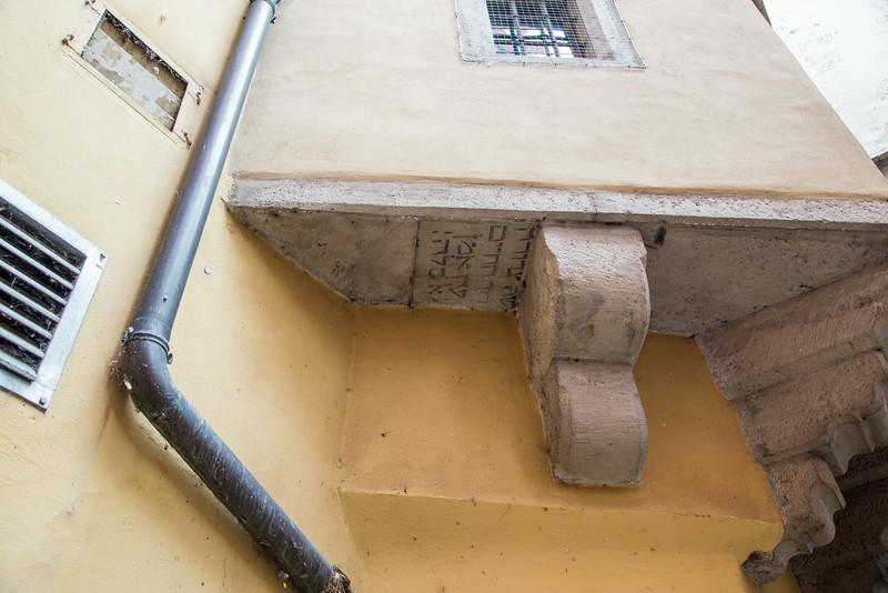 Desecrated Jewish headstone