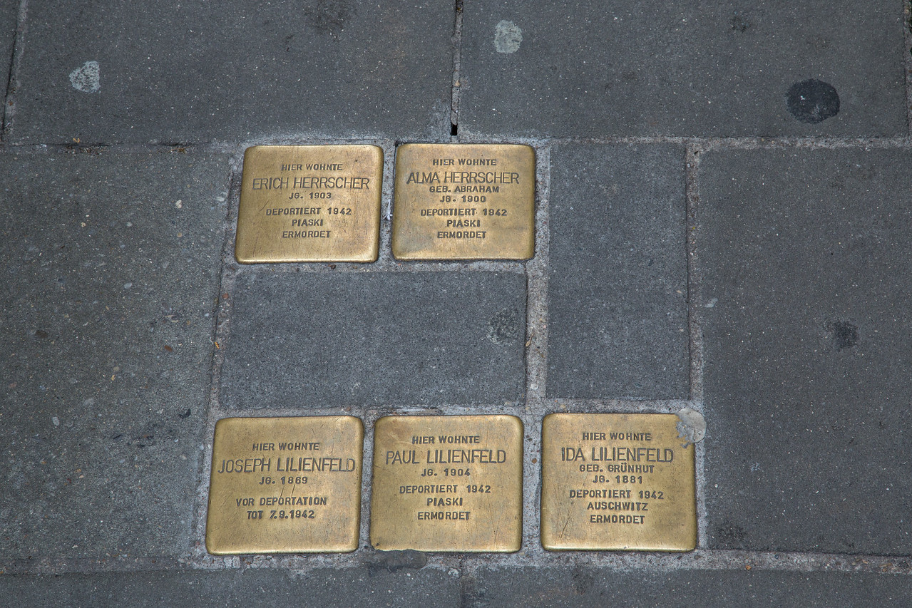 Sidewalk Holocaust Memorials