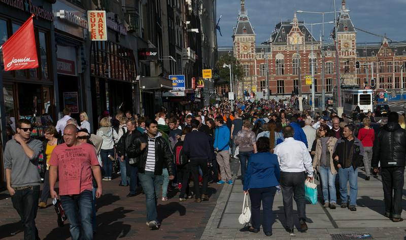 Amsterdam crowds