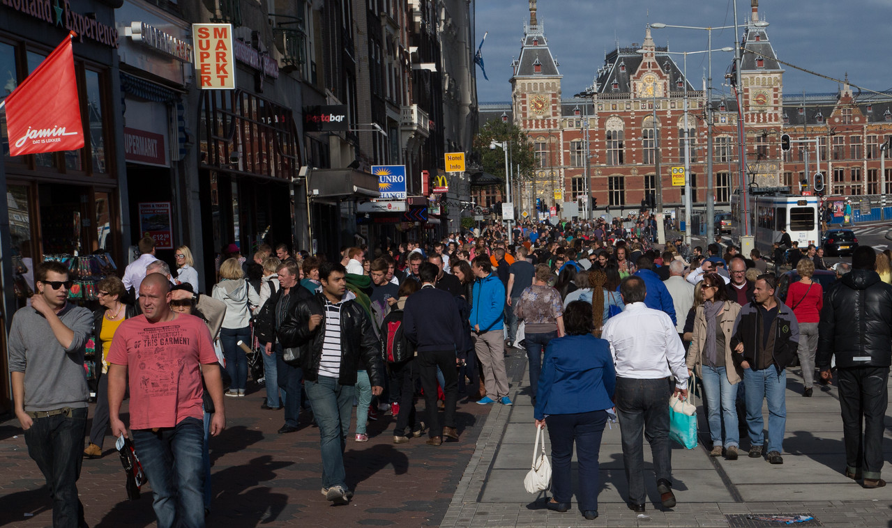 Amsterdam crowds