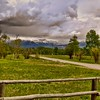 ZigZag Fence, Road and Mountains