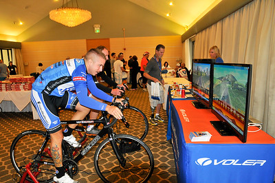 Cyclists participate in a UnitedHealthcare health fair during registration day of the 2013 Ride 2 Recovery California Challenge in Palo Alto, Calif. As a 501(c)(3) organization, R2R helps injured active duty service members and veterans improve their health and wellness through individual and group cycling.