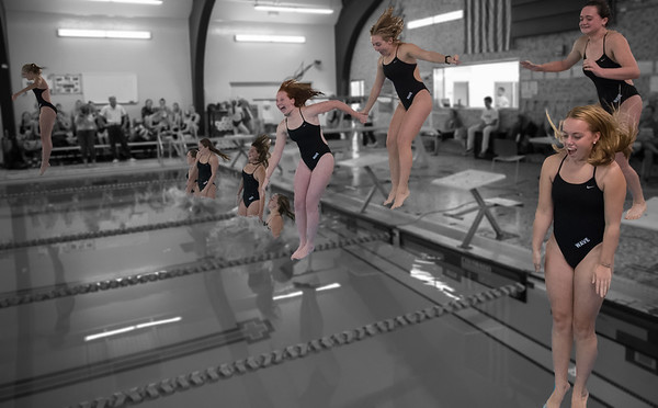 2016 DHS Girls Swim/Dive vs. Staples