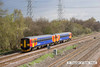 130426-022     1K04, the 0807 Crewe to Derby East Midlands Trains service, formed by class 153 units no's 153308 & 153376 is seen approaching North Stafford Junction, near Willington.