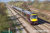 130426-008     Cross Country Trains class 170 units no's 170112 (nearest at the rear) & 170102 are captured passing North Stafford Junction, Willington with 1G09, the 0737 Nottingham to Birmingham New Street.