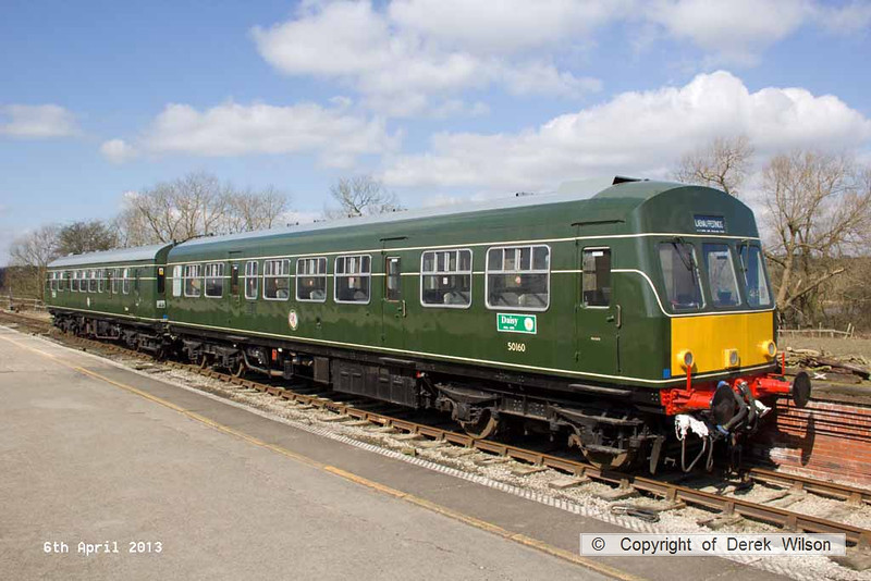 130406-018     Heritage class 101 DMU, consisting of  50160 & 50164, seen at Butterley