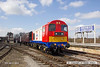130406-030      Class 20 no. 20227 in it's recently applied London Underground livery, seen arriving at Swanwick.