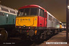 131206-091     A close-up of Class 86 no 86702 Cassiopeia posing under the lights at Barrow Hill.