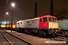 131206-039     Class 86 no 86702 Cassiopeia poses under the lights at Barrow Hill. Behind is classmate no 86701 Orion which was painted into Colas livery for a trial service but unfortunately nothing came of it, so the locomotive has been languishing ever since.