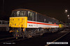 131206-078     Class 86 no 86213 Lancashire Witch in BR Intercity 'Swallow' livery, captured under the lights at Barrow Hill.