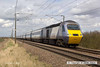 130413-030     A East Coast HST led by powercar, class 43 no. 43313 is captured passing Frinkley Lane, leading 1E09, the 0930 Edinburgh to London King's Cross.
