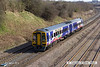 130406-054     Northern Rail class 158 unit no. 158860 is captured passing Hasland, Chesterfield, with 1Y40, the 1515 Nottingham to Leeds.