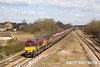 130406-010     DB Schenker class 66/0 no. 66009 passing Westhouses near Alfreton, powering train 6M56, 1750 Greenburn Keir Mining to Ratcliffe power station, loaded coal hoppers.