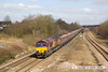 130406-009     DB Schenker class 66/0 no. 66009 passing Westhouses near Alfreton, powering train 6M56, 1750 Greenburn Keir Mining to Ratcliffe power station, loaded coal hoppers.