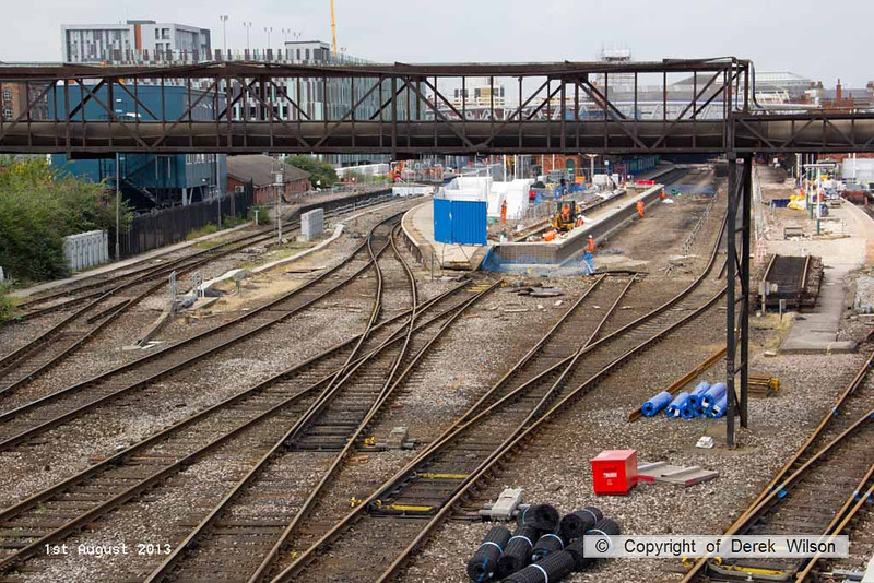 130801-005     Nottingham signalling & track renewal project, the station viewed from London Road.