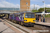130803-002     Northern Rail class 144 pacer unit no 144010 calls at Retford with 2P35, the 07.30 Sheffield to Lincoln.