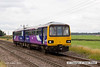 130813-004     Northern Rail class 144 pacer unit no 144008 passes Rushey sidings with 2P65, the 10.19 Scunthorpe to Lincoln.