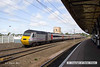 130803-013     East Coast Trains  HST powercar no 43302 is seen passing Retford, at the rear of train 1S09, the 09.00 London King's Cross to Edinburgh.