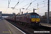 130216-003     WCRC class 47 no. 47237 is captured pulling into Newark North Gate, at the head of 1Z54, 06.00 St Neots - Preston.