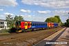 130602-018     East Midlands Trains class 153 unit's no's 153385 & 153376 are captured leaving Mansfield Woodhouse with 2D06, the1750 Mansfield Woodhouse to Nottingham, via Pinxton due to engineering work on the singled section of the Robin Hood Line.