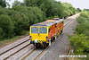 130726-044     Colas track machine, Tamper no DR73908 is captured near Willington, running as 6xxx, 12.28 Rugby DED to Burton-on-Trent, headcode unknown.