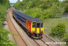 130602-008     East Midlands Trains class 156 unit no. 156410 leaves the Robin Hood Line at Kirkby Lane End Junction & is captured heading towards Pinxton with the diverted 2D04, the 1417 Mansfield Woodhouse to Nottingham.