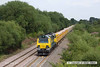 130726-040      Freightliner Powerhaul class 70 no 70015 is seen south of Willington, heading towards Burton on Trent, powering train 6U77, 13.44 Mountsorrel sidings to Crewe Basford Hall SSN, loaded ballast.