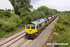 130726-038     Freightliner class 66/5 no 66585 The Drax Flyer, seen near Willington, powering train 6M49, 12.41 Barrow Hill up sidings to Rugeley power station, loaded coal hoppers.