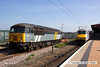 130709-008     The Class 56 Group's ex Fastline 56301 which is on hire to DCR, posing in the sun in York parcel sidings.